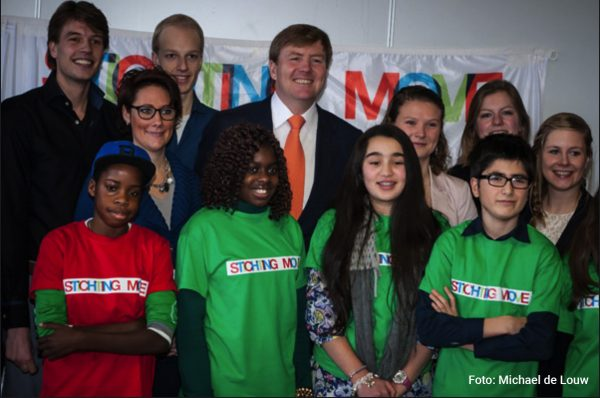 Koning op jubileum stichting Move ?>
