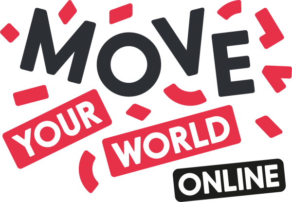 Logo Move your world online, rode snippers